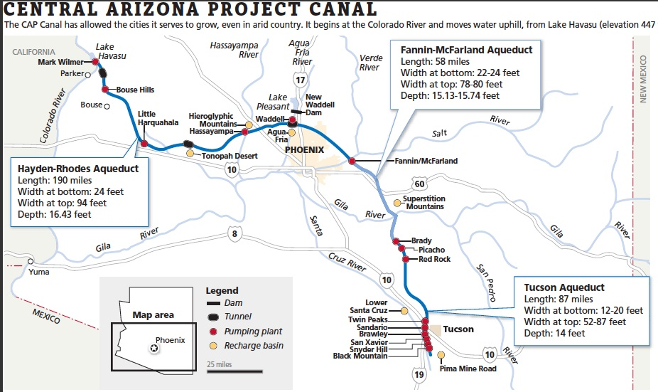 central arizona project canal The central arizona water conservation  project water obtained at a substantially lower rate than prior  page 4 gao/rced-95-102 central arizona project.