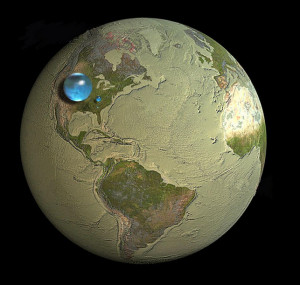 Earth's Water (Courtesy Woods Hole Oceanographic Institution)